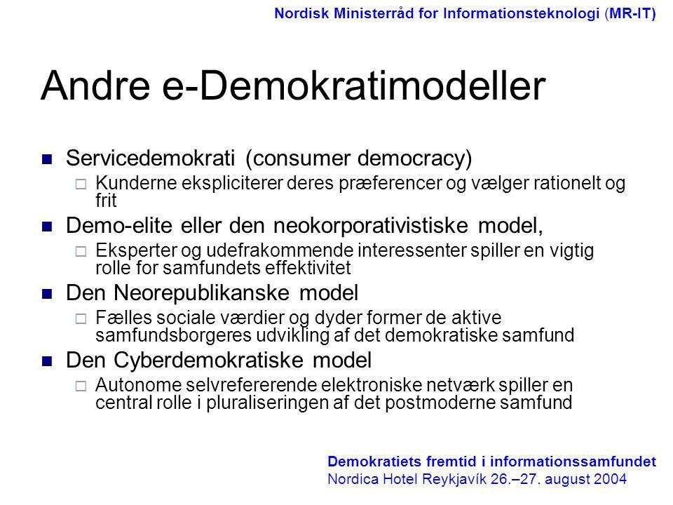 Andre e-Demokratimodeller