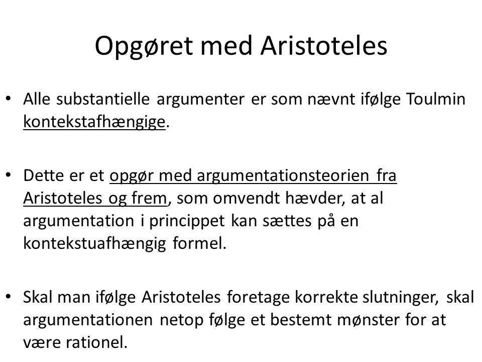 Opgøret med Aristoteles
