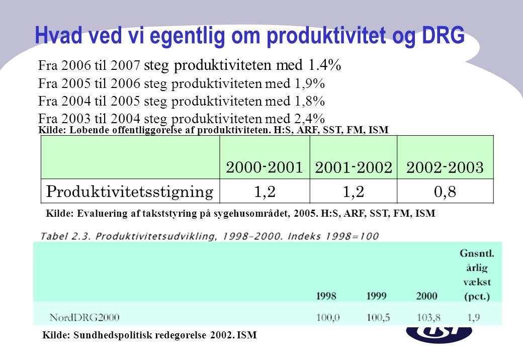 Hvad ved vi egentlig om produktivitet og DRG