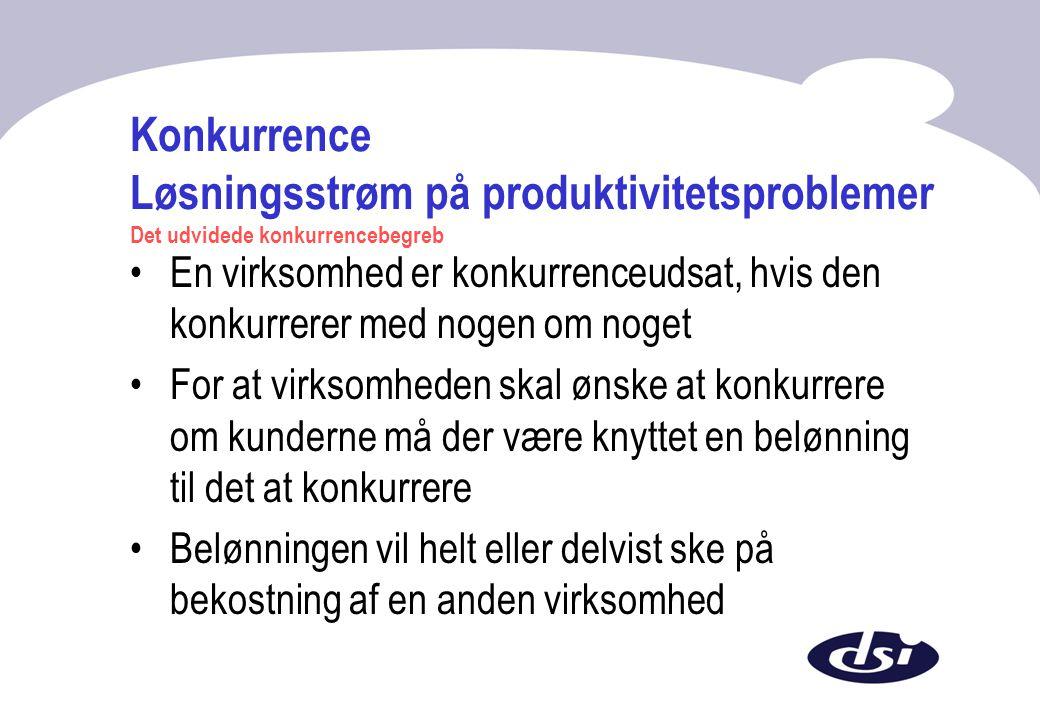 Konkurrence Løsningsstrøm på produktivitetsproblemer Det udvidede konkurrencebegreb