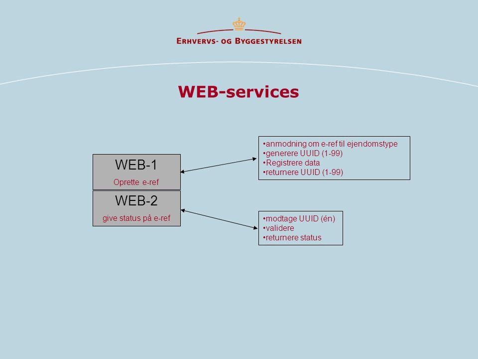 WEB-services WEB-1 WEB-2 anmodning om e-ref til ejendomstype