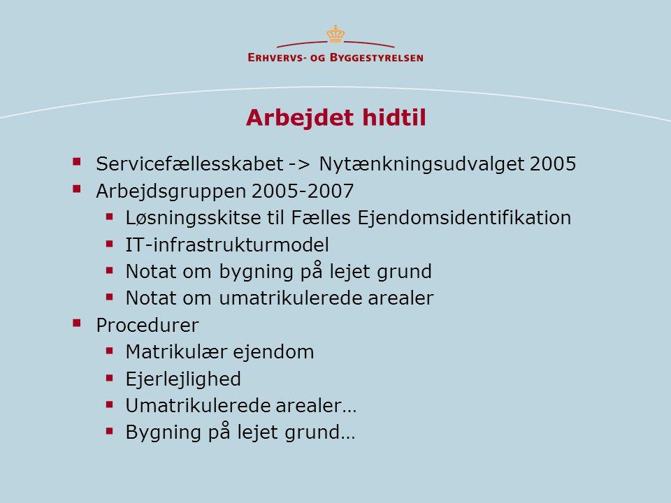 Arbejdet hidtil Servicefællesskabet -> Nytænkningsudvalget 2005
