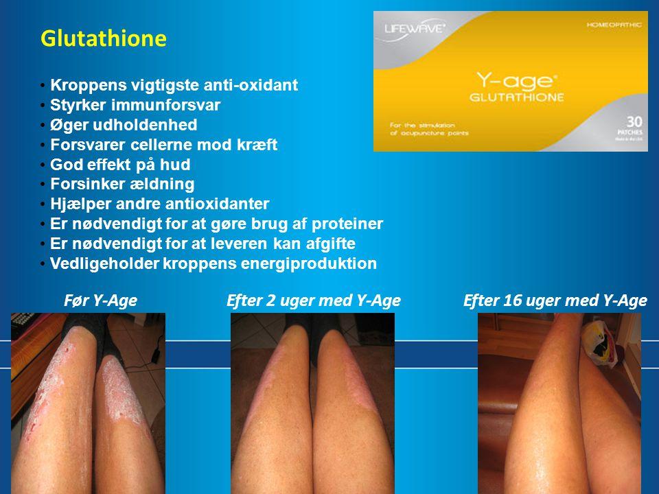 Glutathione Retail Før Y-Age Efter 2 uger med Y-Age