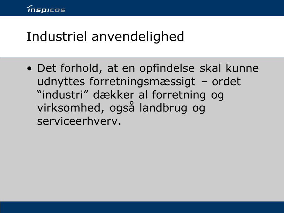 Industriel anvendelighed