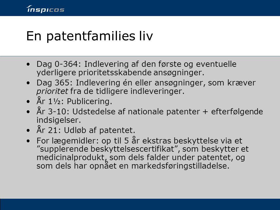 En patentfamilies liv Dag 0-364: Indlevering af den første og eventuelle yderligere prioritetsskabende ansøgninger.