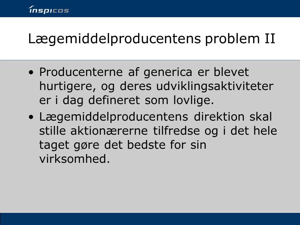 Lægemiddelproducentens problem II
