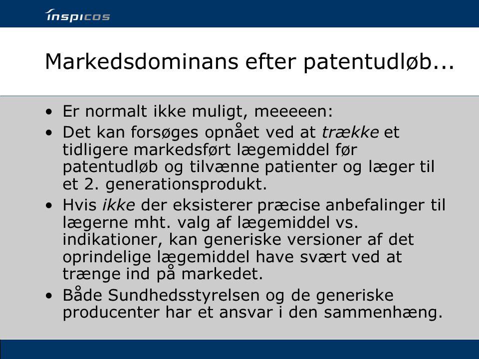 Markedsdominans efter patentudløb...