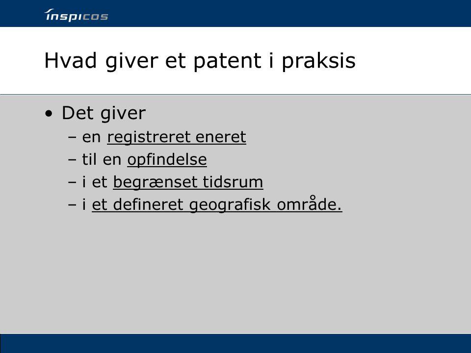 Hvad giver et patent i praksis