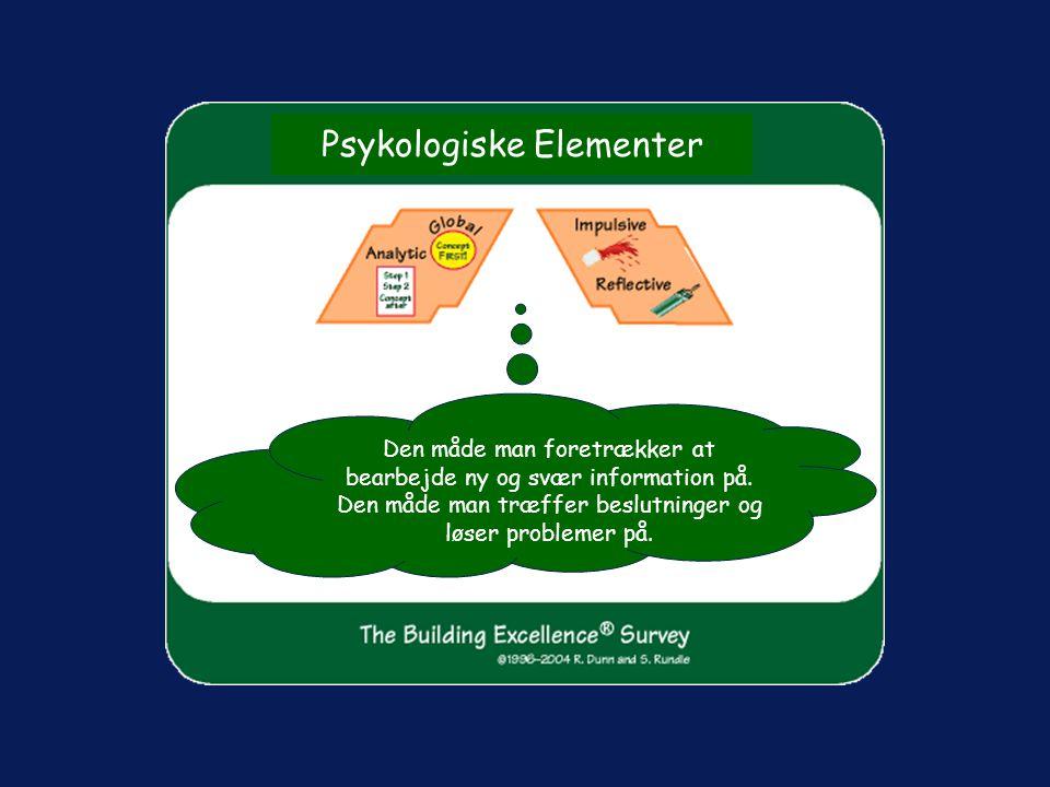 Psykologiske Elementer