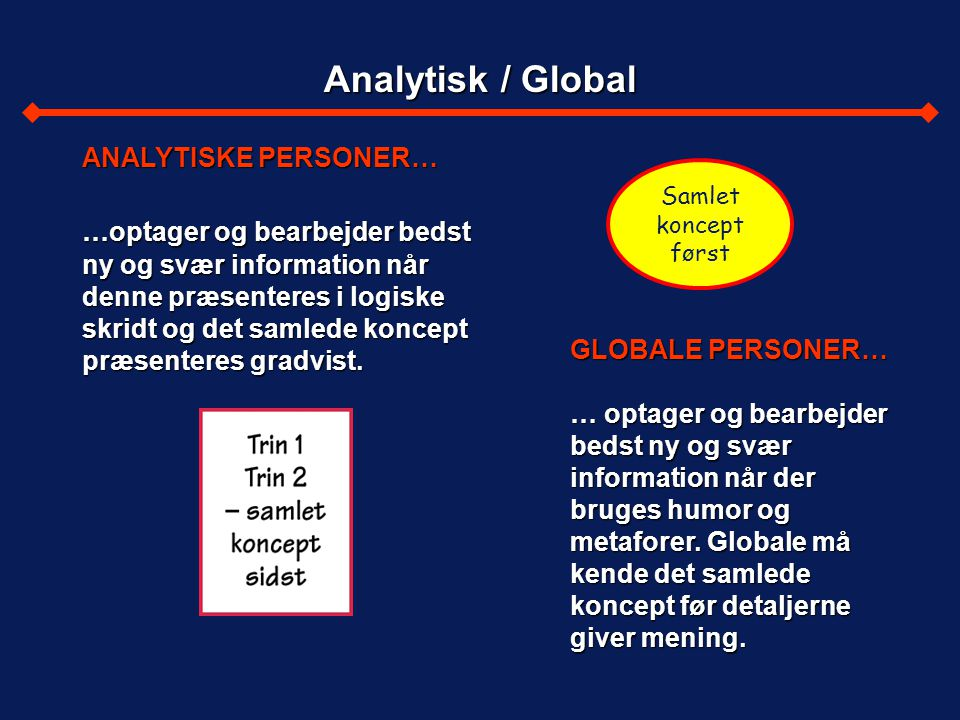 Analytisk / Global ANALYTISKE PERSONER…