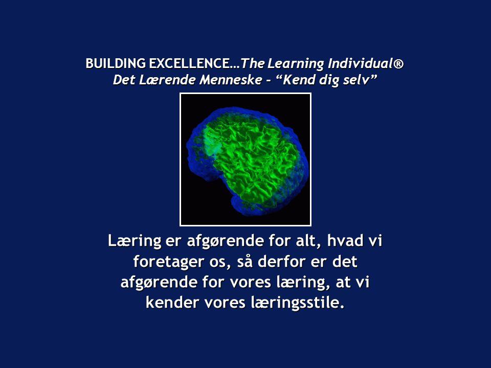 BUILDING EXCELLENCE…The Learning Individual® Det Lærende Menneske - Kend dig selv