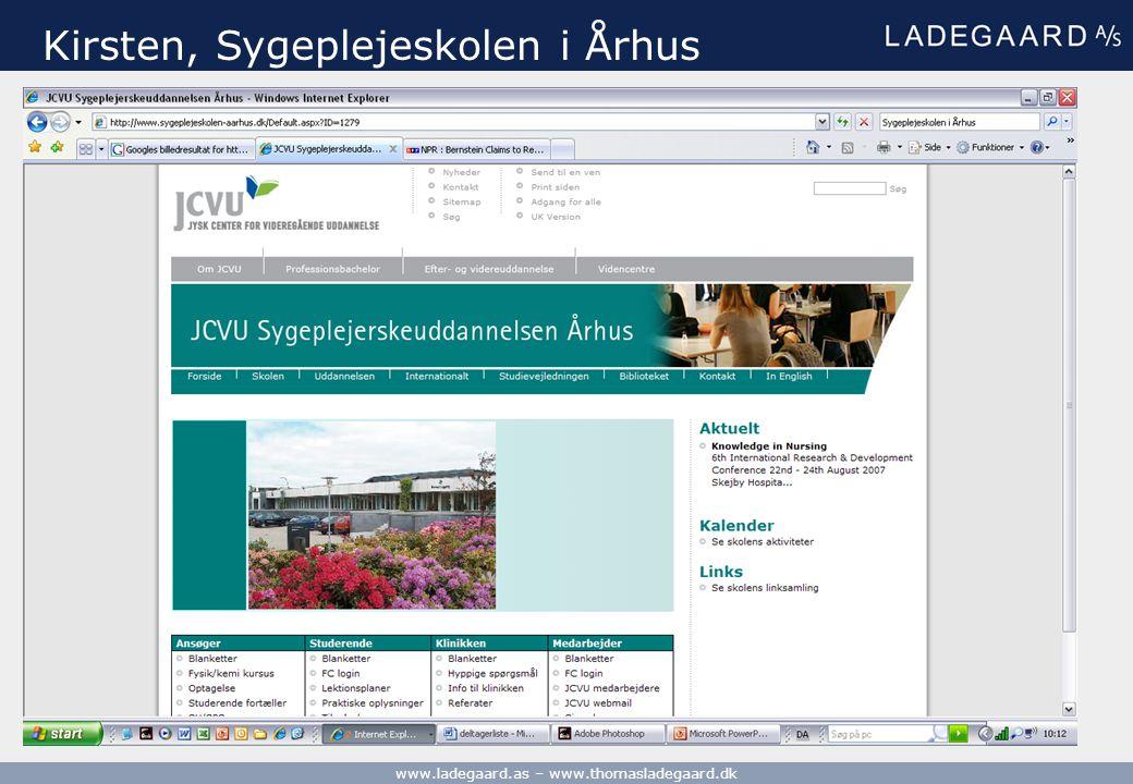 Kirsten, Sygeplejeskolen i Århus