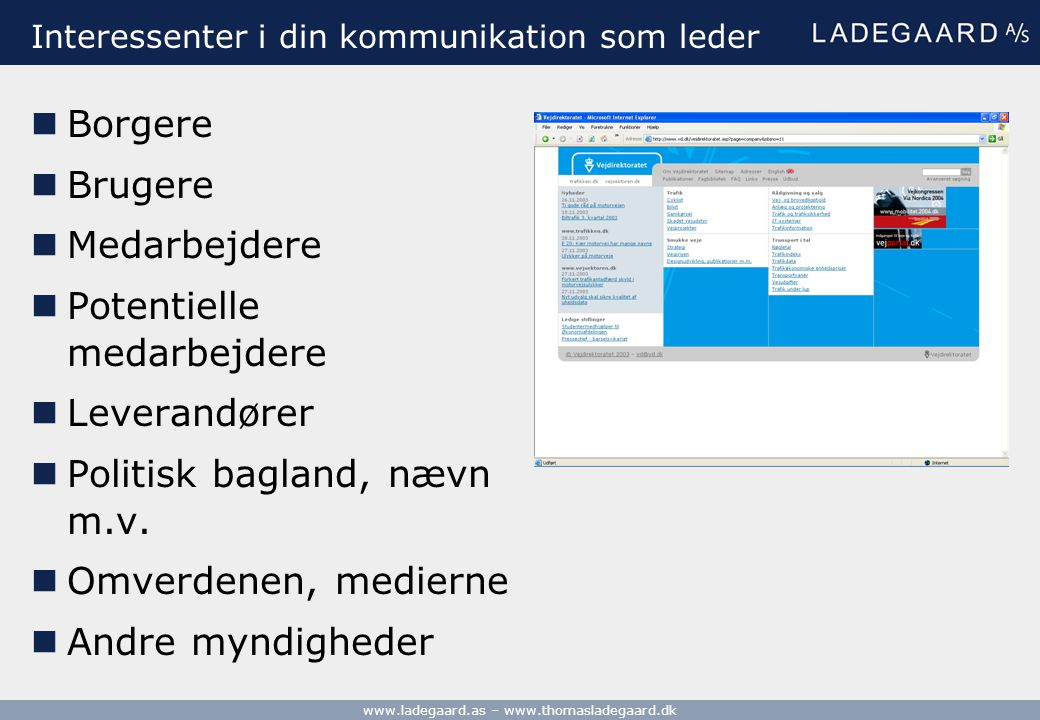 Interessenter i din kommunikation som leder