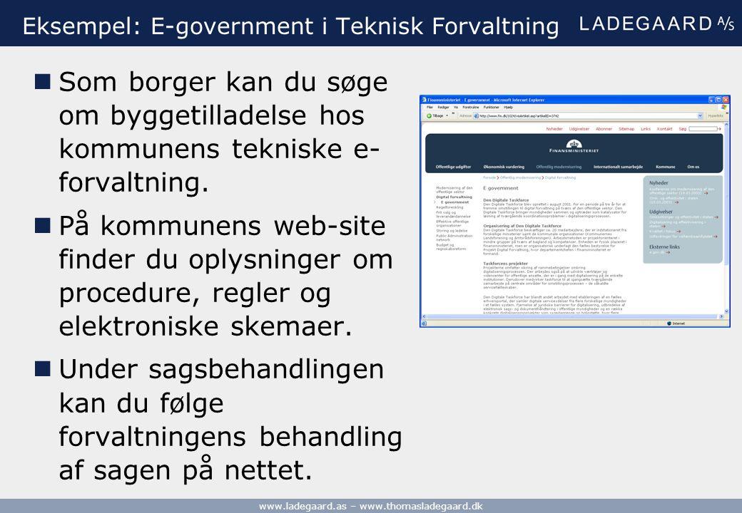 Eksempel: E-government i Teknisk Forvaltning