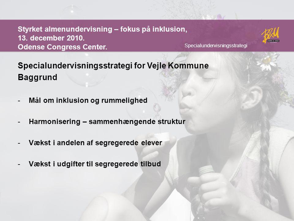 Specialundervisningsstrategi for Vejle Kommune Baggrund