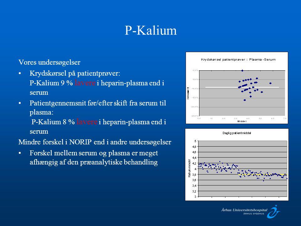 P-Kalium Vores undersøgelser