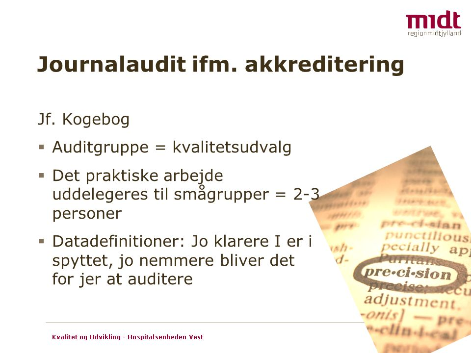 Journalaudit ifm. akkreditering