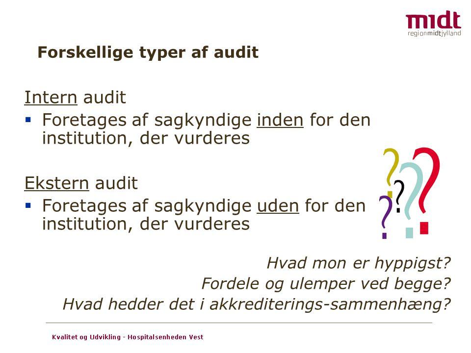 Forskellige typer af audit