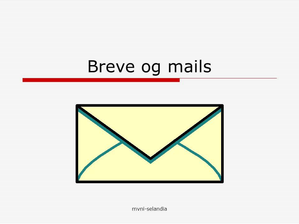 Breve og mails mvni-selandia
