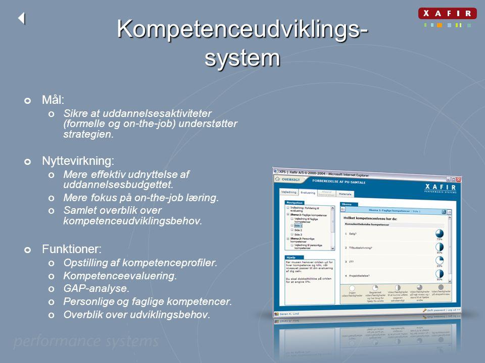 Kompetenceudviklings-system