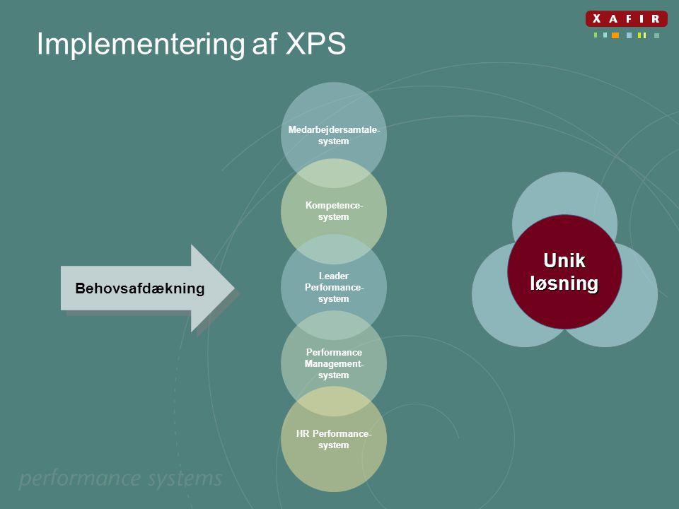 Implementering af XPS Unik løsning Behovsafdækning