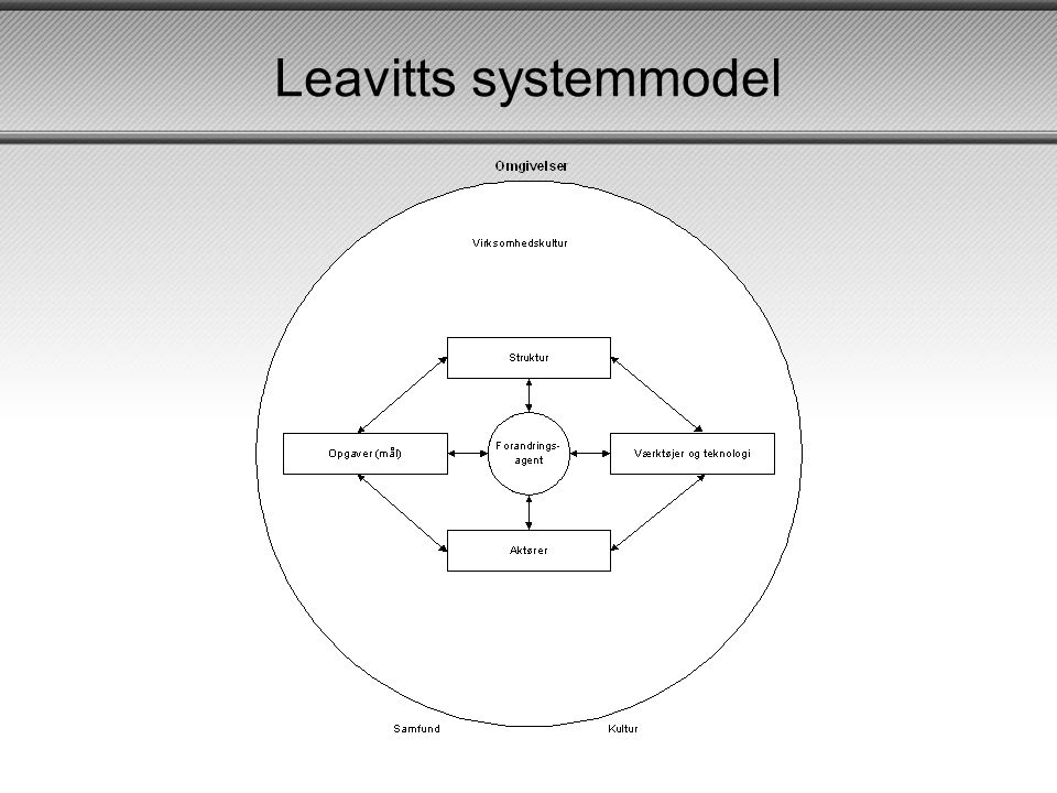 Leavitts systemmodel