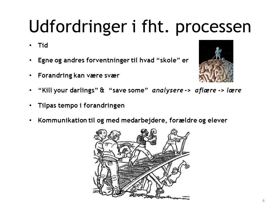 Udfordringer i fht. processen