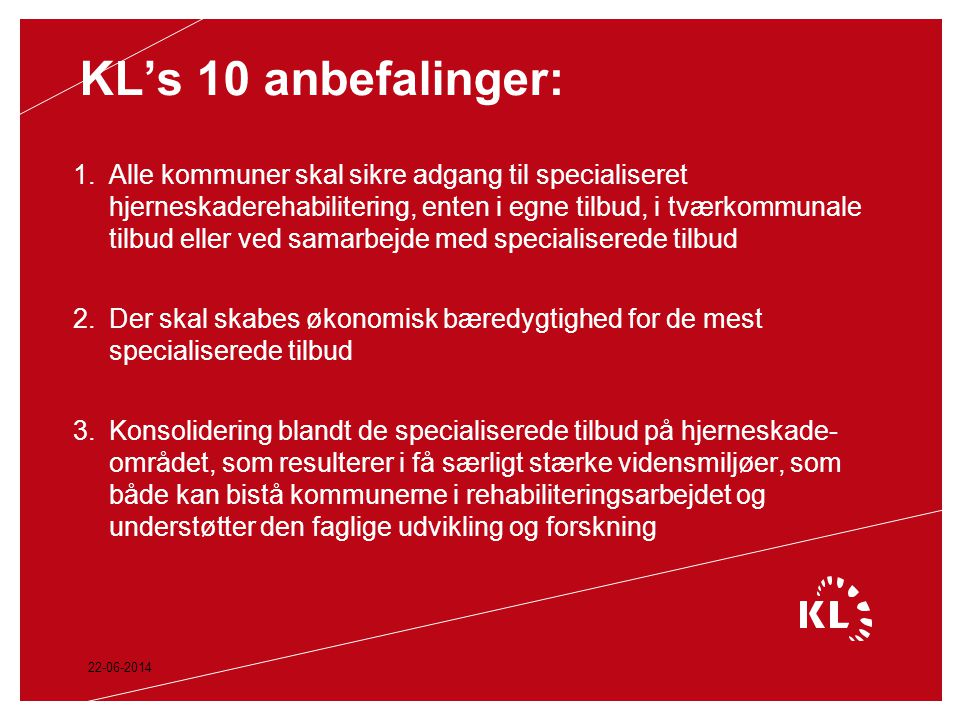 KL's 10 anbefalinger: