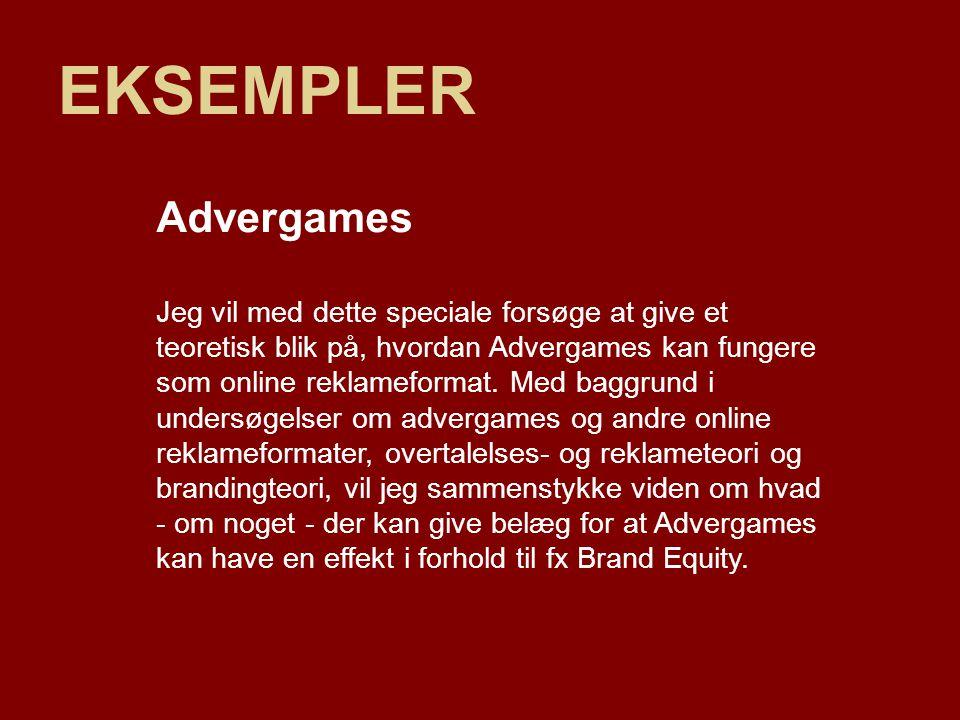 EKSEMPLER Advergames.