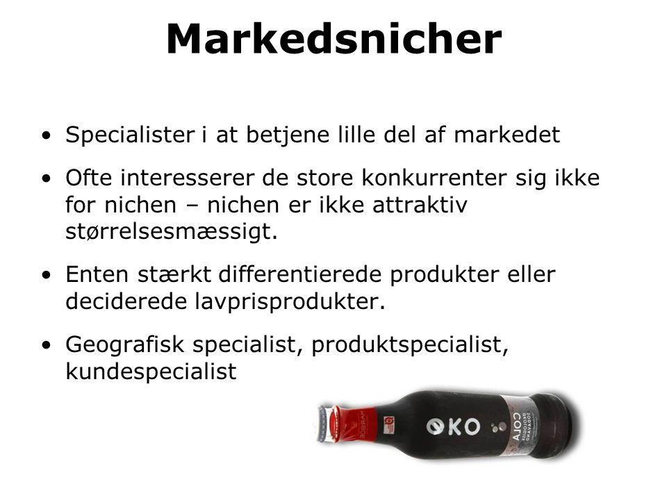 Markedsnicher Specialister i at betjene lille del af markedet