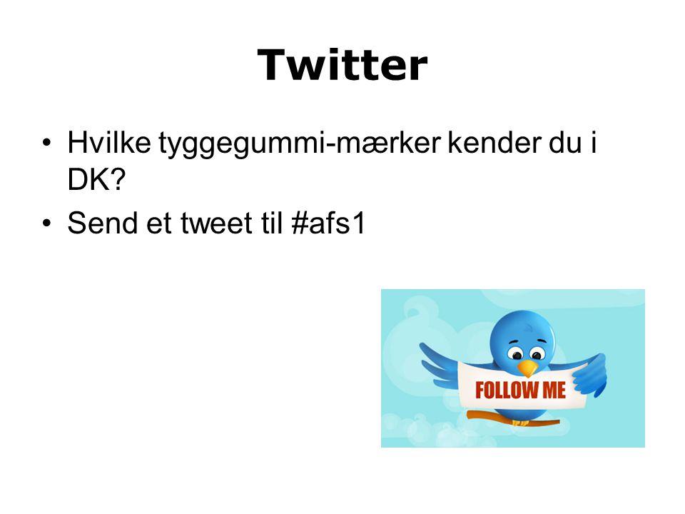 Twitter Hvilke tyggegummi-mærker kender du i DK