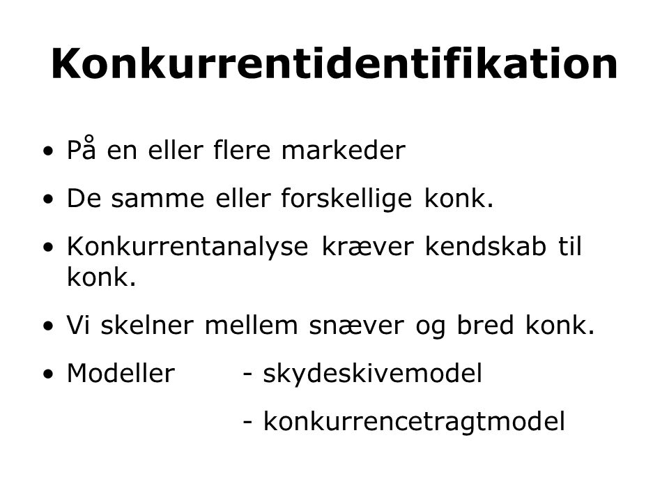 Konkurrentidentifikation
