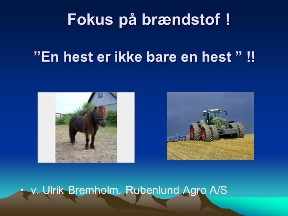 Fokus på brændstof ! En hest er ikke bare en hest !!