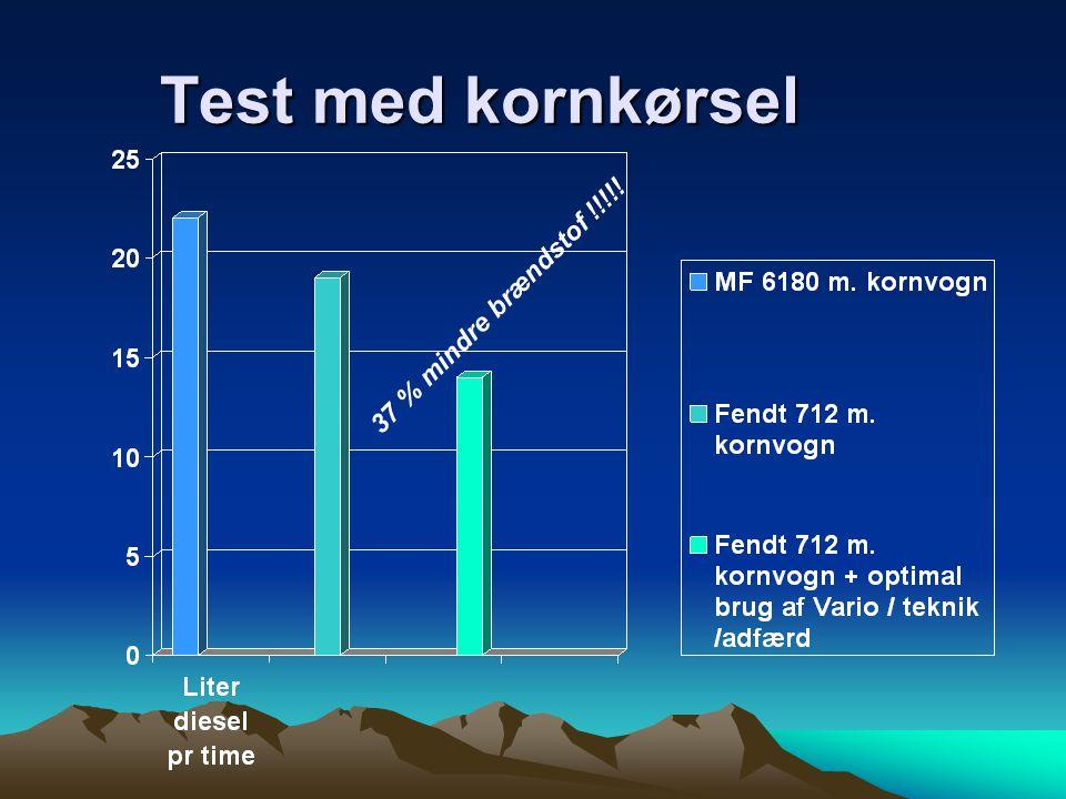 Test med kornkørsel 37 % mindre brændstof !!!!!