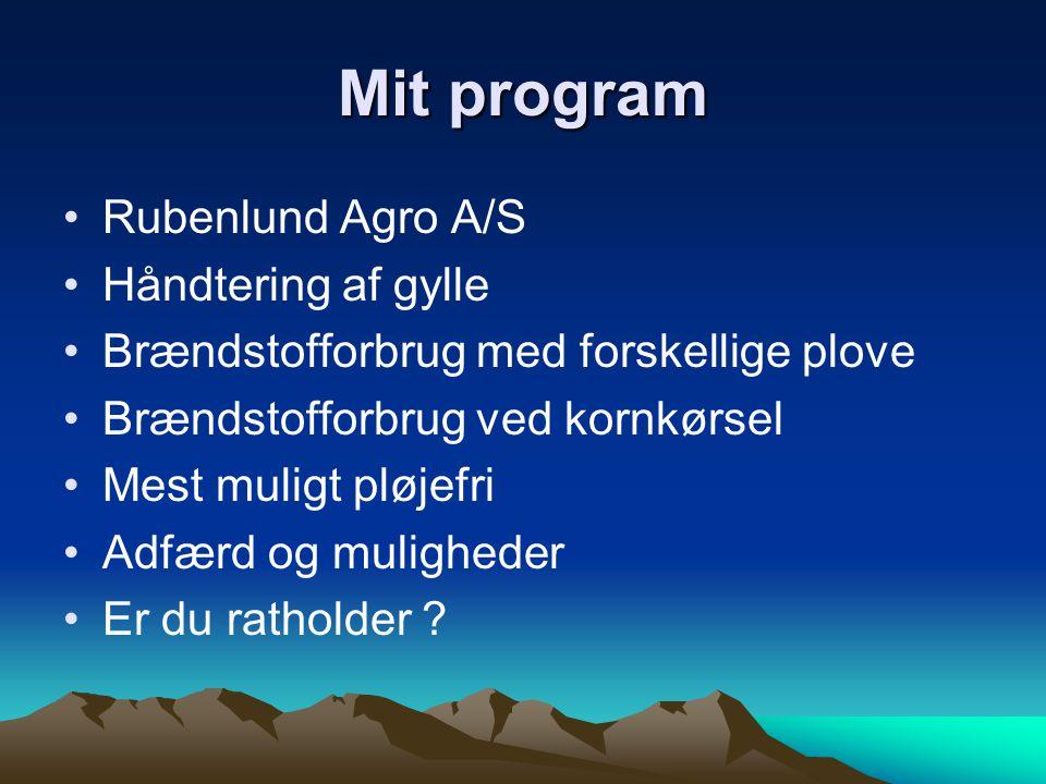 Mit program Rubenlund Agro A/S Håndtering af gylle