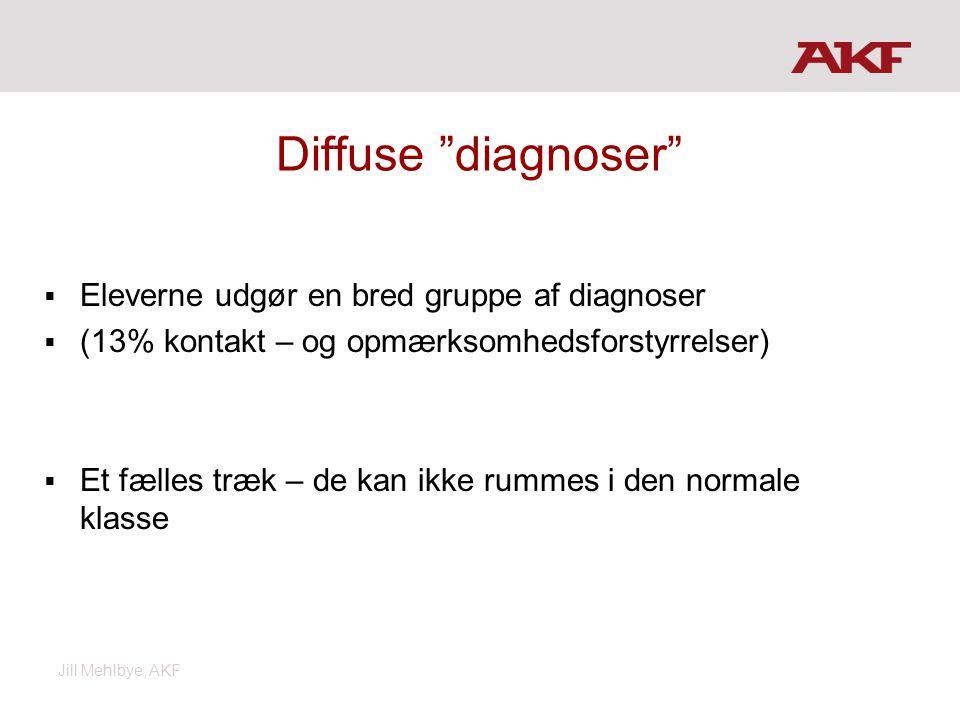 Diffuse diagnoser Eleverne udgør en bred gruppe af diagnoser