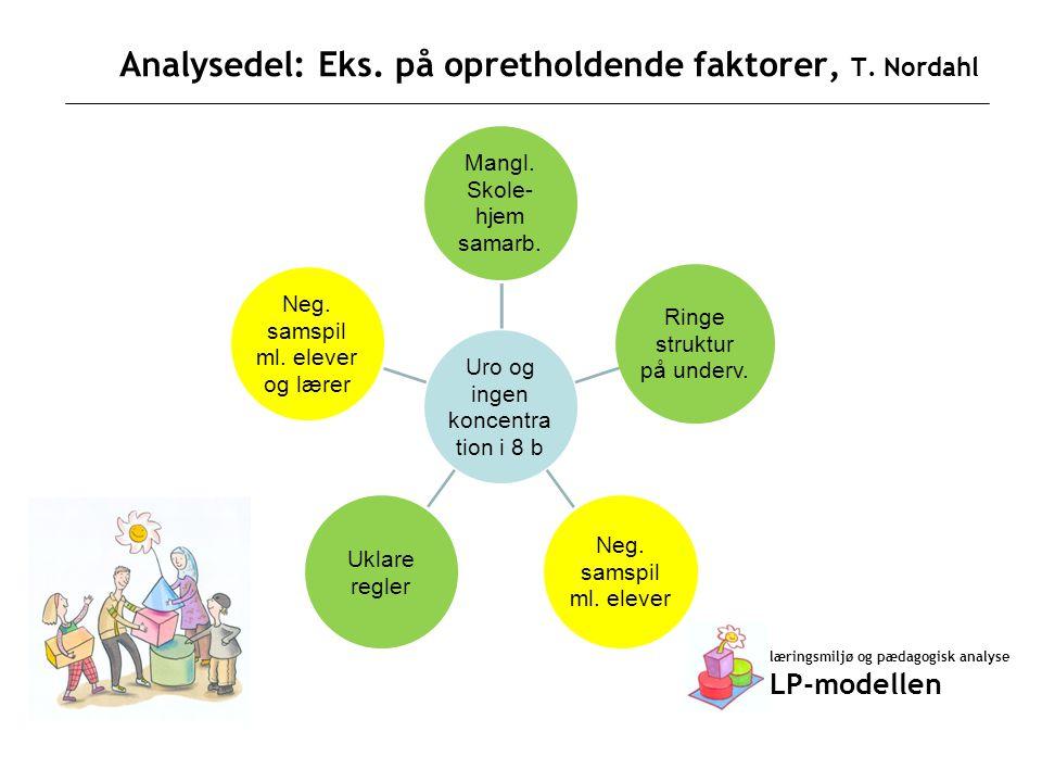 Analysedel: Eks. på opretholdende faktorer, T. Nordahl