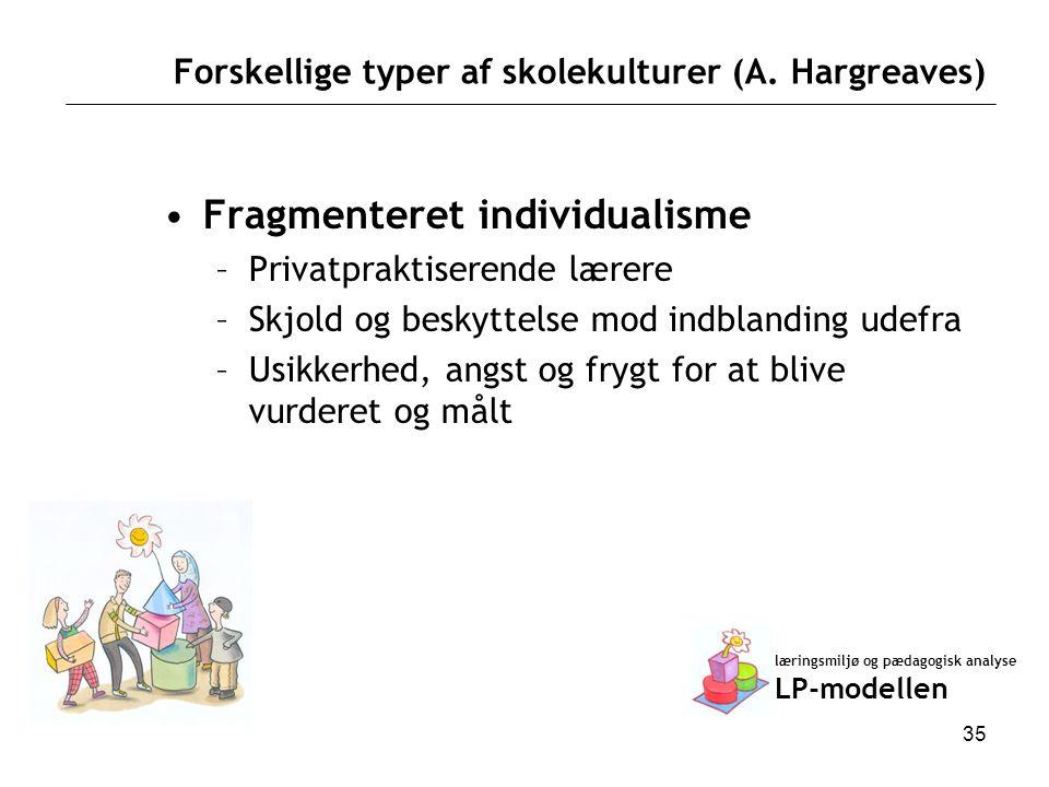 Forskellige typer af skolekulturer (A. Hargreaves)