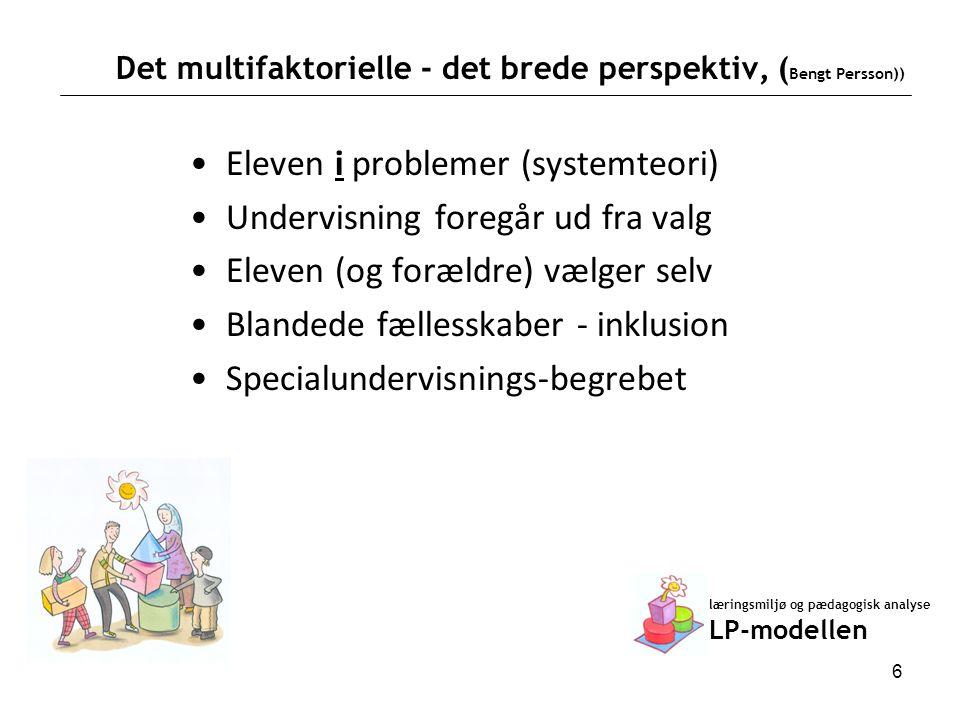 Det multifaktorielle - det brede perspektiv, (Bengt Persson))