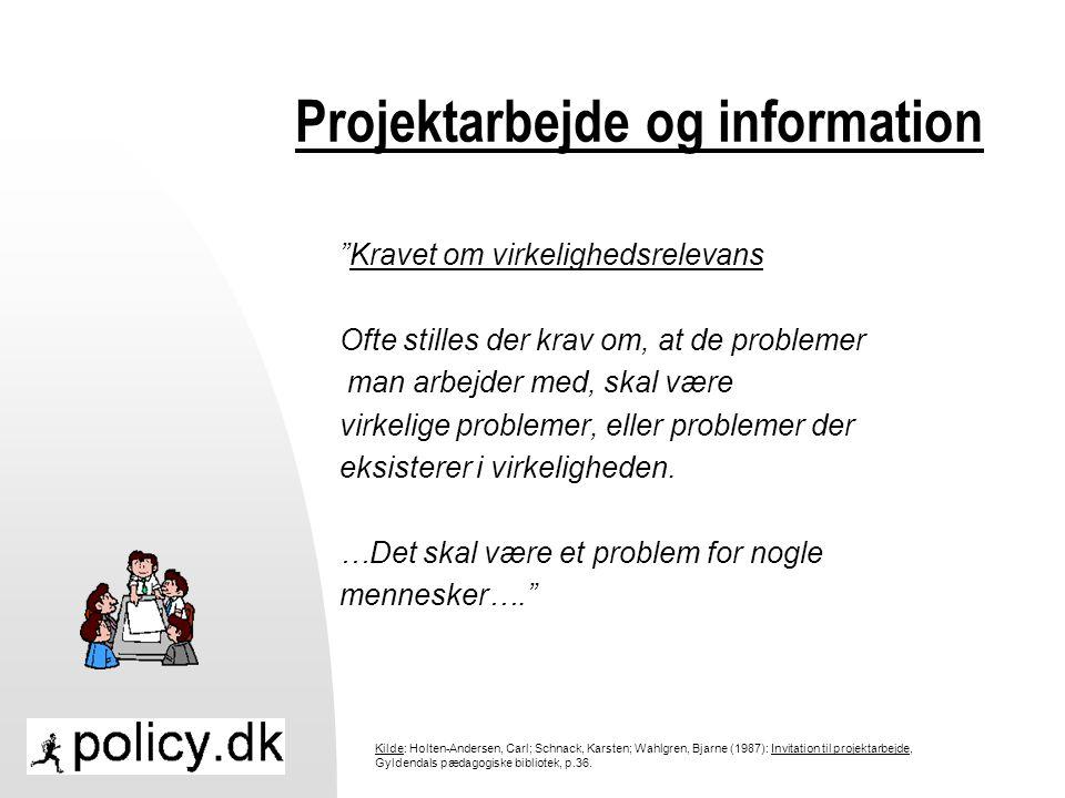 Projektarbejde og information