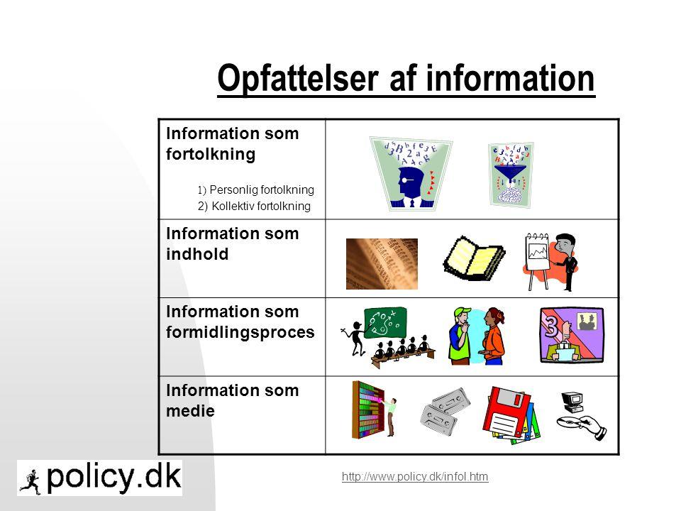 Opfattelser af information