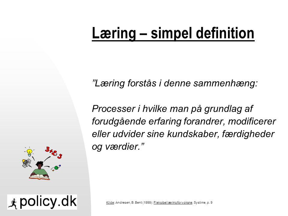 Læring – simpel definition
