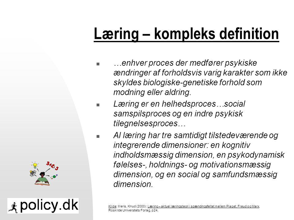 Læring – kompleks definition