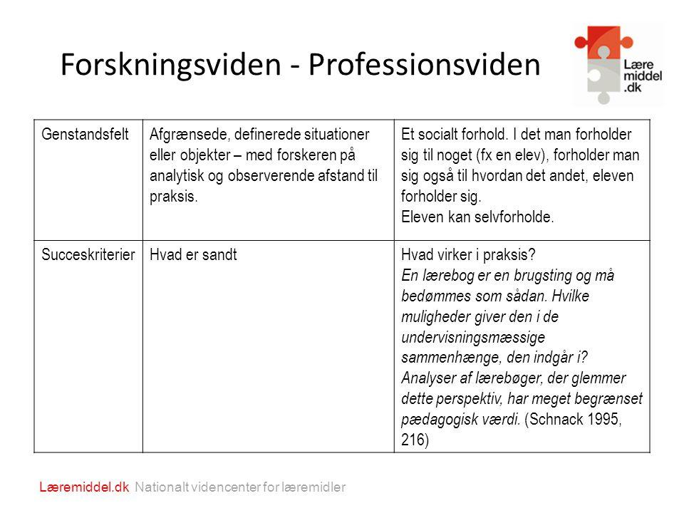 Forskningsviden - Professionsviden