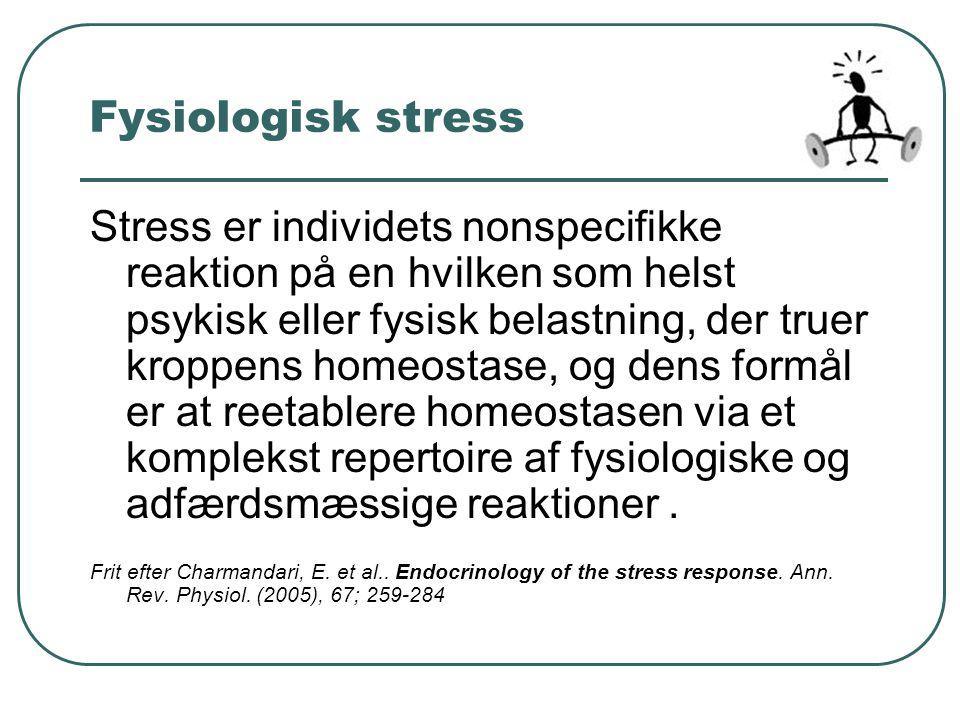 Fysiologisk stress