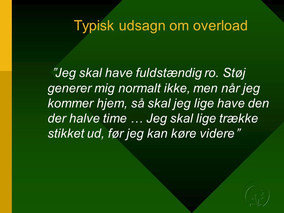 Typisk udsagn om overload