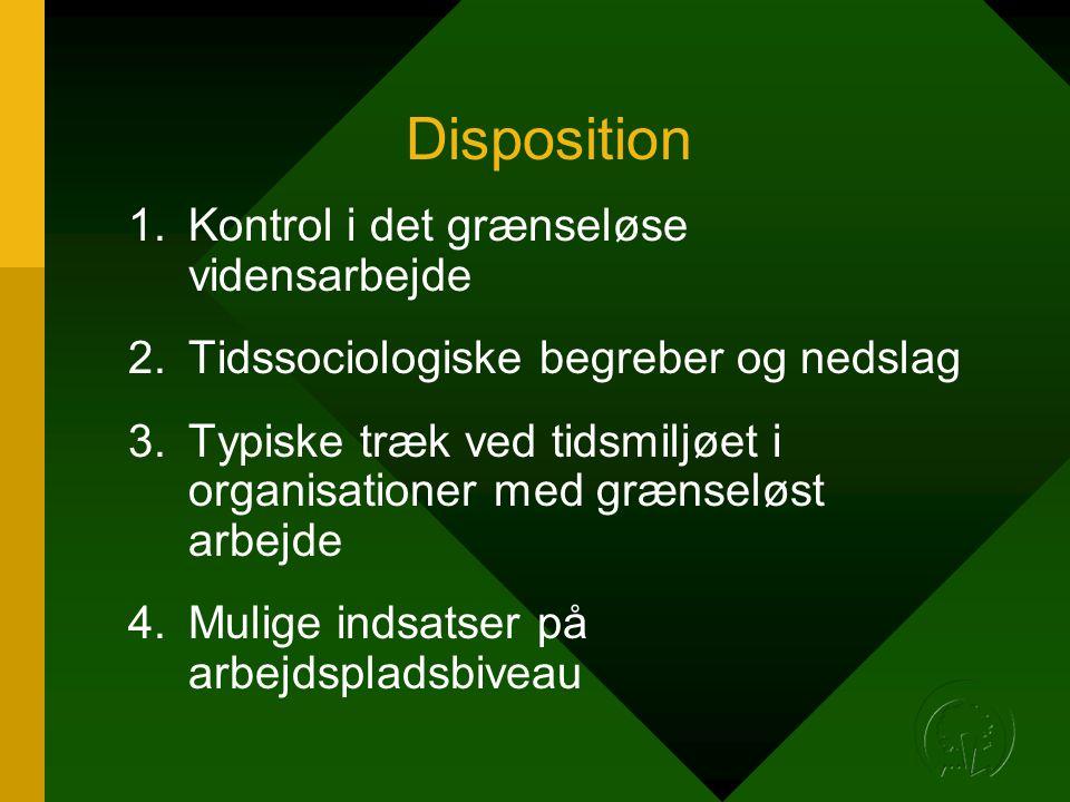 Disposition Kontrol i det grænseløse vidensarbejde