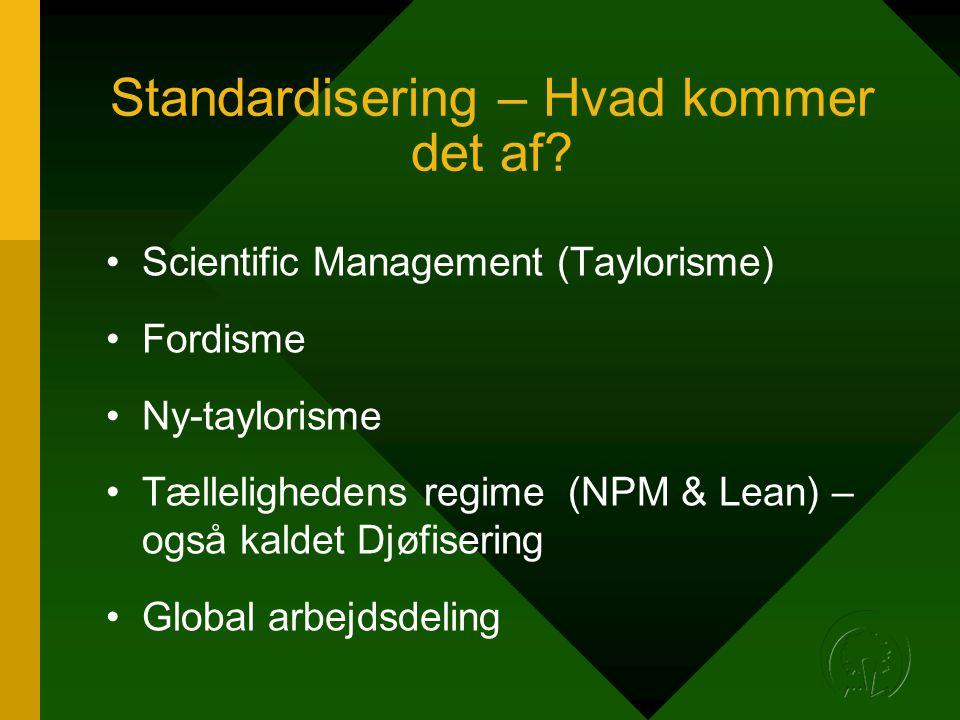 Standardisering – Hvad kommer det af