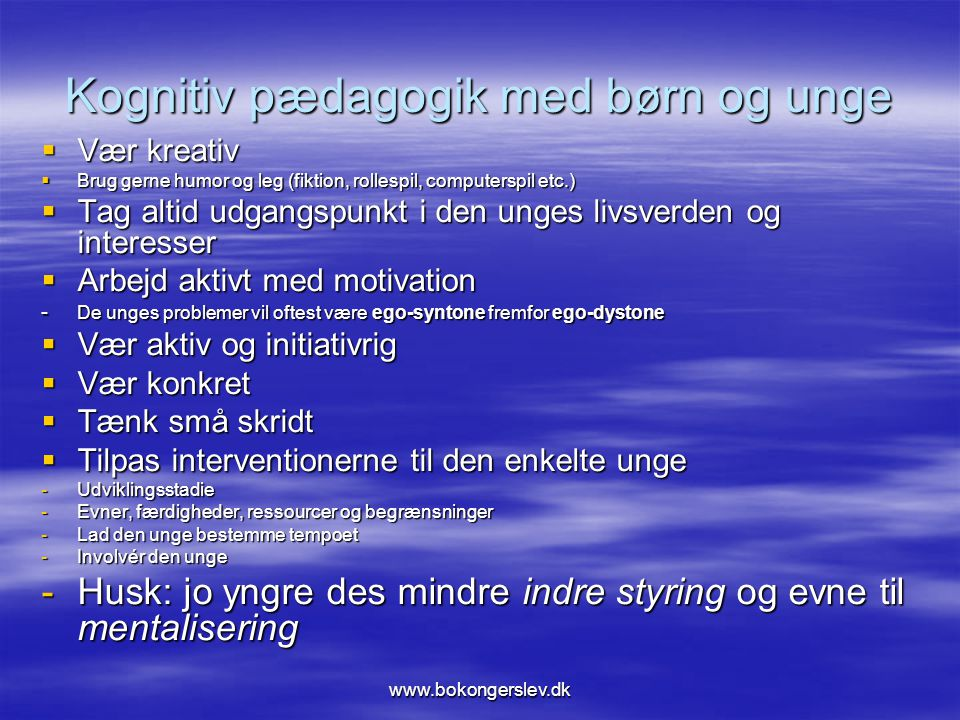 Kognitiv pædagogik med børn og unge