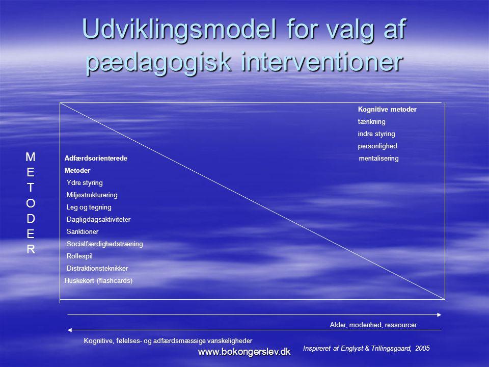 Udviklingsmodel for valg af pædagogisk interventioner